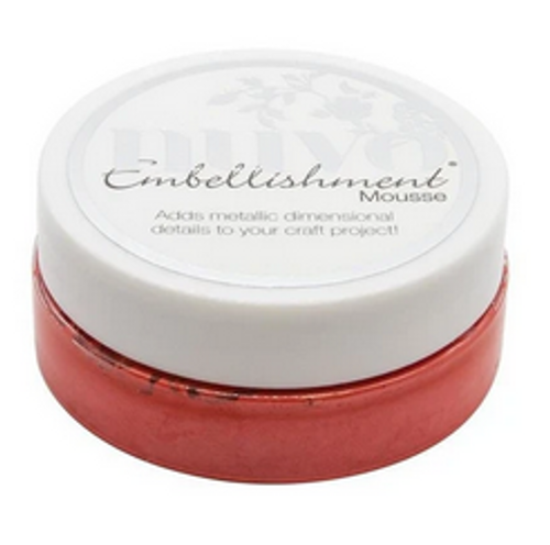 Nuvo Embellishment Mousse: Fusion Red
