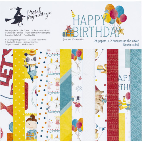 P13 Happy Birthday 6x6 Paper Pad