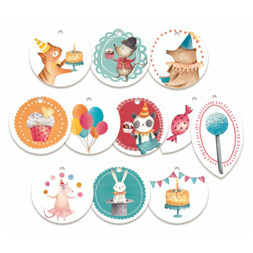 P13 Happy Birthday Decorative Tags: Set 1