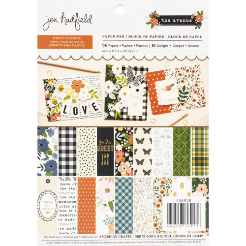 Pebbles 6x8 Paper Pad: The Avenue by Jen Hadfield (Single-Sided)