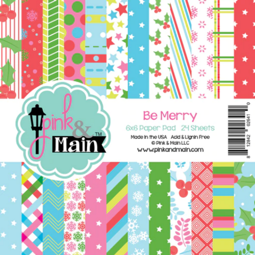 Pink & Main 6x6 Paper Pad: Be Merry