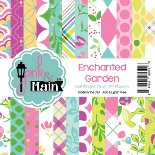 Pink & Main 6x6 Paper Pad: Enchanted Garden