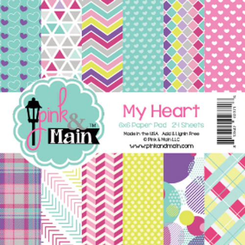 Pink & Main 6x6 Paper Pad: My Heart