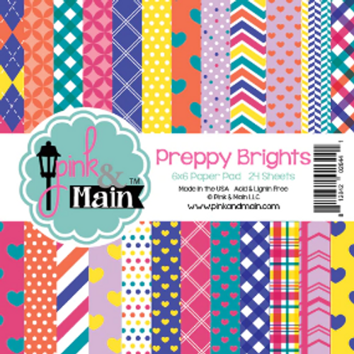 Pink & Main 6x6 Paper Pad: Preppy Brights