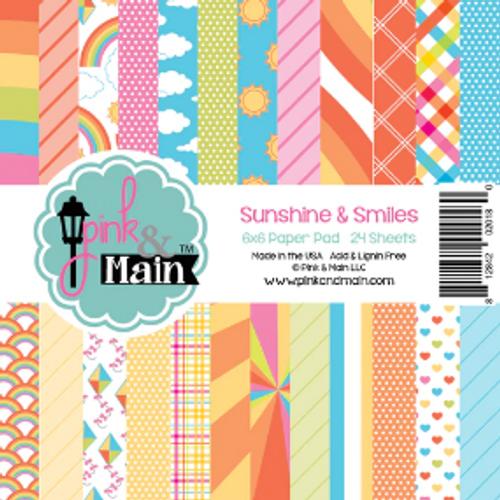 Pink & Main 6x6 Paper Pad: Sunshine & Smiles