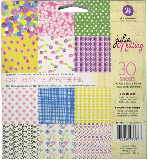 Prima Marketing 6x6 Paper Pad: Dress Me Up