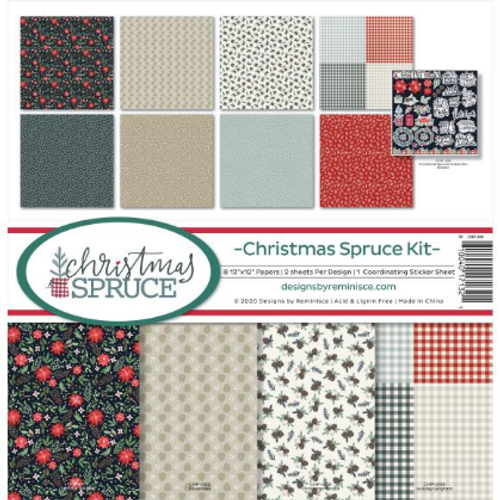 Reminisce 12x12 Collection Kit: Christmas Spruce