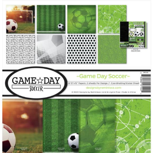 Reminisce 12x12 Collection Kit: Game Day Soccer
