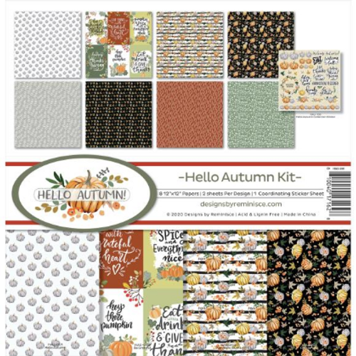 Reminisce 12x12 Collection Kit: Hello Autumn