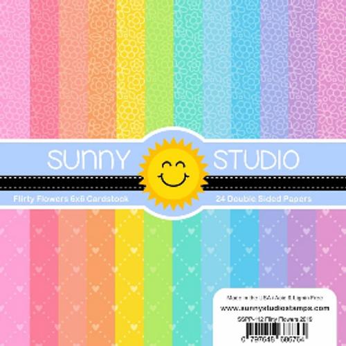 Sunny Studio 6x6 Paper Pad: Flirty Flowers