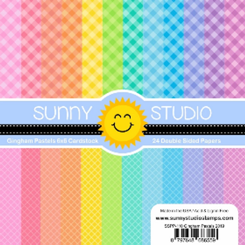Sunny Studio 6x6 Paper Pad: Gingham Pastels