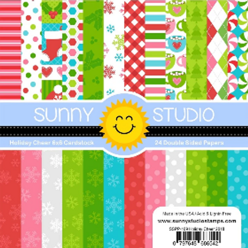 Sunny Studio 6x6 Paper Pad: Holiday Cheer
