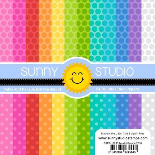 Sunny Studio 6x6 Paper Pad: Polka Dot Parade