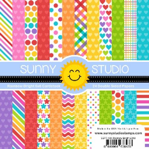 Sunny Studio 6x6 Paper Pad: Rainbow Bright