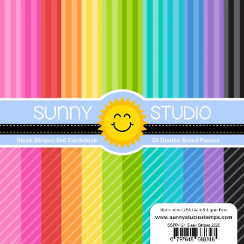 Sunny Studio 6x6 Paper Pad: Sleek Stripes