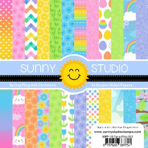 Sunny Studio 6x6 Paper Pad: Spring Fling