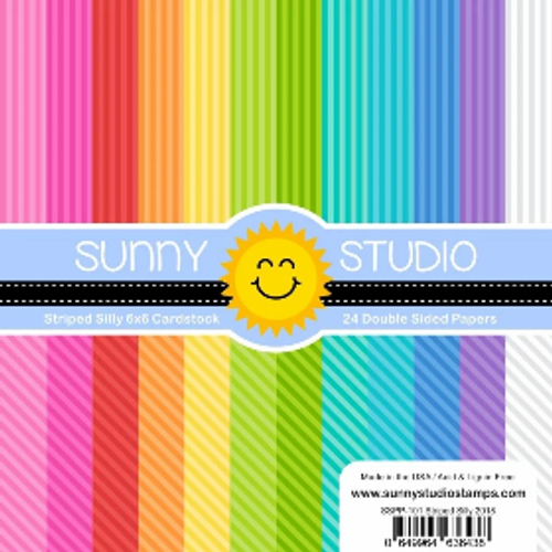 Sunny Studio 6x6 Paper Pad: Striped Silly