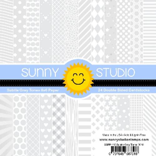 Sunny Studio 6x6 Paper Pad: Subtle Grey Tones