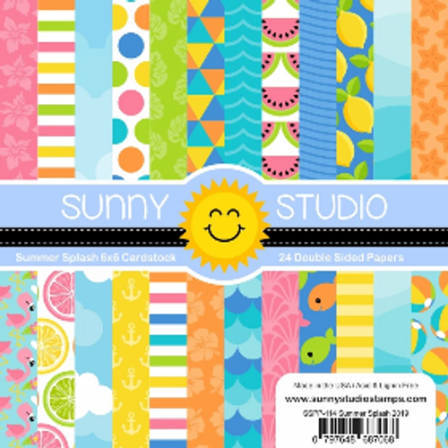 Sunny Studio 6x6 Paper Pad: Summer Splash