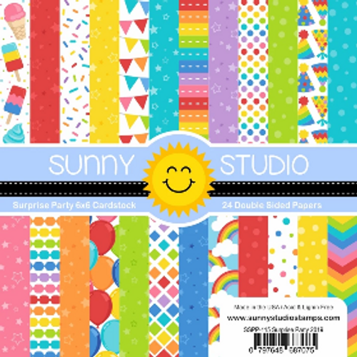 Sunny Studio 6x6 Paper Pad: Surprise Party