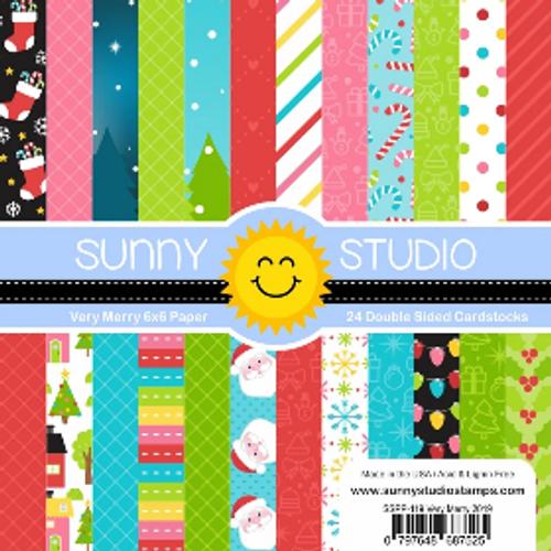 Sunny Studio 6x6 Paper Pad: Very Merry