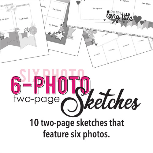 * DIGITAL DOWNLOAD * TEN SKETCHES - Six Photos | Two Page Layouts