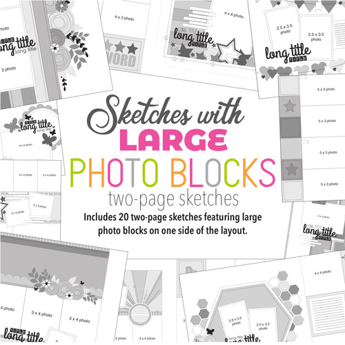 * DIGITAL DOWNLOAD * Allison Davis for SG | Sketches with Large Photo Blocks (20 sketches)