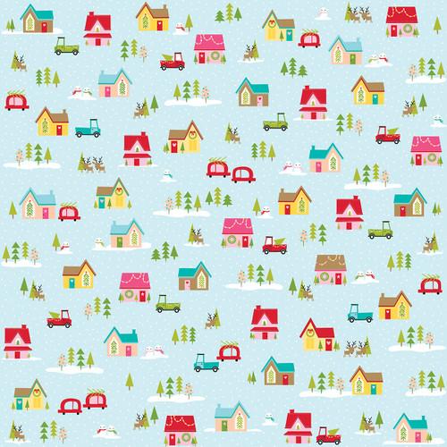 Bella Blvd Fa La La 12x12 Paper: Christmas Village