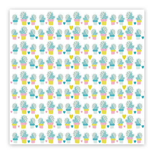 Pretty Little Studio Chasing the Sun 8x8 Paper (Single Sided) | Prickly Pear