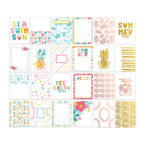Pretty Little Studio Chasing the Sun Journaling/Pocket Cards | Sunkissed 3x4