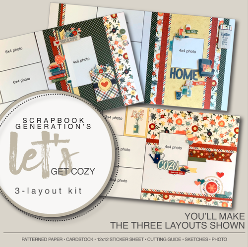 SG: Let's Get Cozy - 3 Layout Kit
