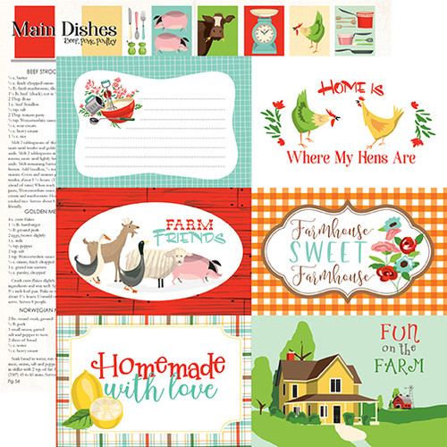 Carta Bella Farm to Table 12x12 Paper: 6X4 Journaling Cards