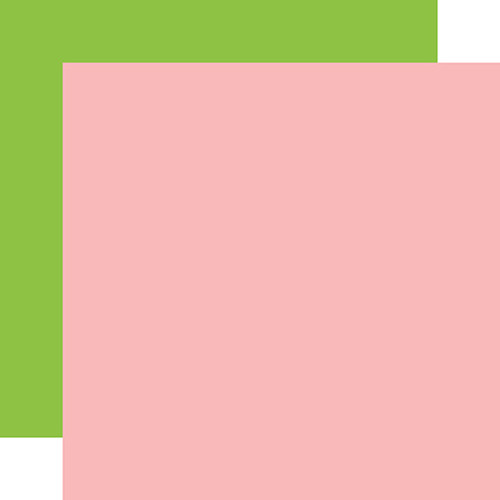 Carta Bella Farm to Table 12x12 Paper: Pink / Green (Coordinating Solid)