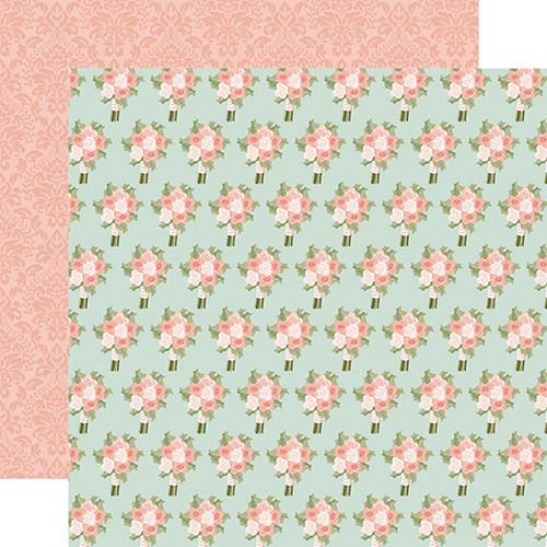 Echo Park Our Wedding 12x12 Paper: Bridal Bouquet