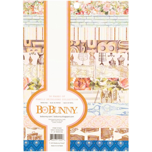BoBunny Family Heirlooms 6x8 Paper Pad