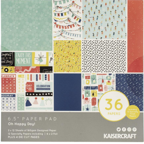 KaiserCraft Oh Happy Day! 6.5x6.5 Paper Pad (w/diecuts)