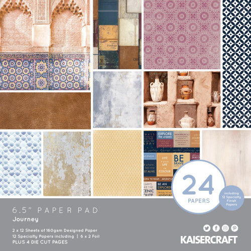 KaiserCraft Journey 6.5x6.5 Paper Pad (w/diecuts)