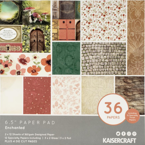 KaiserCraft Enchanted 6.5x6.5 Paper Pad (w/diecuts)
