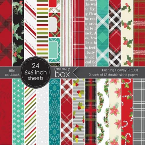 Memory Box 6x6 Paper Pad: Dashing Holiday