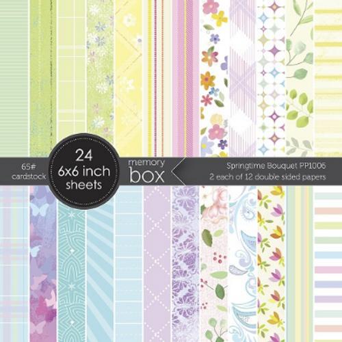 Memory Box 6x6 Paper Pad: Springtime Bouquet