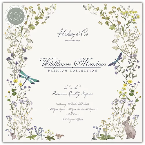 Craft Consortium 6x6 Paper Pad Premium Collection: Wildflower Meadow