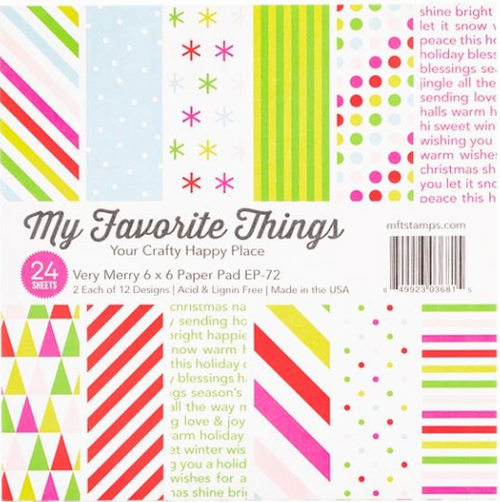 My Favorite Things 6x6 Paper Pad: Very Merry