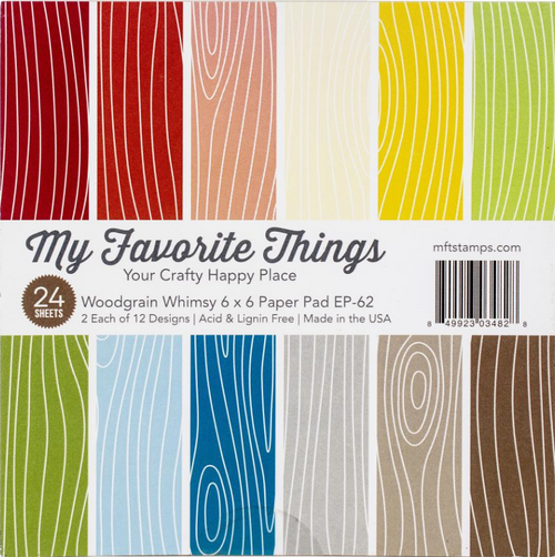 My Favorite Things 6x6 Paper Pad: Woodgrain Whimsy