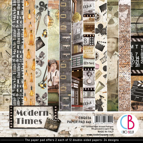 Ciao Bella Papercrafting 6x6 Paper Pad: Modern Times