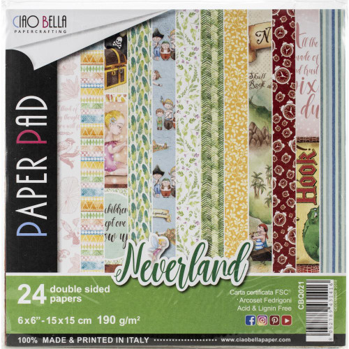 Ciao Bella Papercrafting 6x6 Paper Pad: Neverland