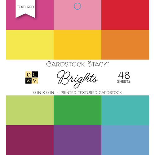 Die Cuts With A View 6x6 Textured Cardstock Pad: Brights