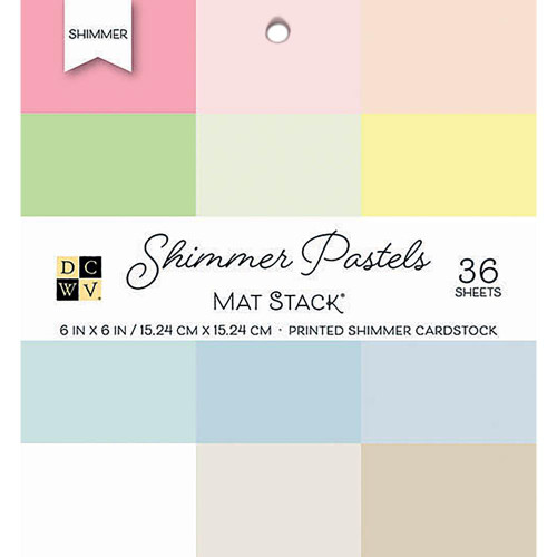 Die Cuts With A View 6x6 Shimmer Cardstock Pad: Pastels