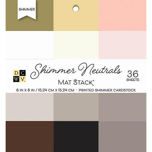 Die Cuts With A View 6x6 Shimmer Cardstock Pad: Neutrals