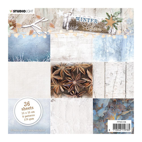 Studio Light 6x6 Paper Pad: Winter Charm #2