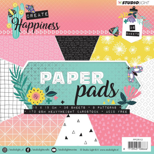 Studio Light 6x6 Paper Pad: Create Happiness #2
